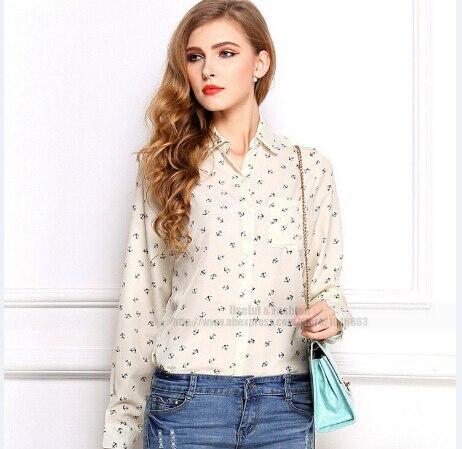 Caliente mujeres Tops Blusas camisas de gasa blusa para