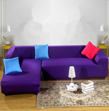 2 pieces Covers For L Shaped Sofa Universal Elastic Slipcover Living Room Solid Corner Sectional Home Decor