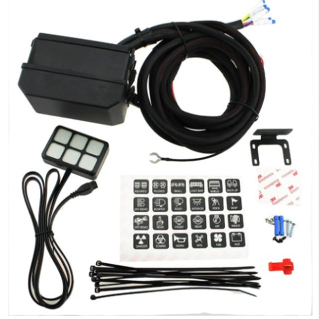 1PC Auto 12V LED 6 Gang Switch Panel Relay Control box Wiring Harness Rocker Car Vehicle_640x640 1pc auto 12v led 6 gang switch panel relay control box wiring