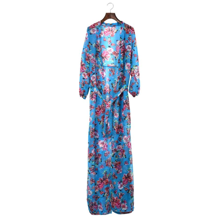 BOHO Style Women Summer Dress,Fashion 2017 Floral Printed Maxi Beach Dress Girls Women's Casual Chiffon Long Dresses Party #Ju
