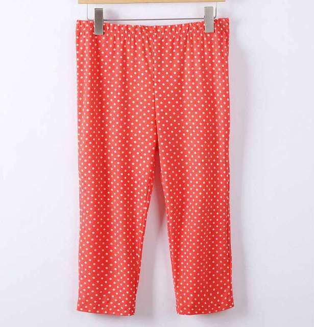 2018 cotton pants sexy knee length pant lady summer short capris large size polka dot slim pants women hot short 3