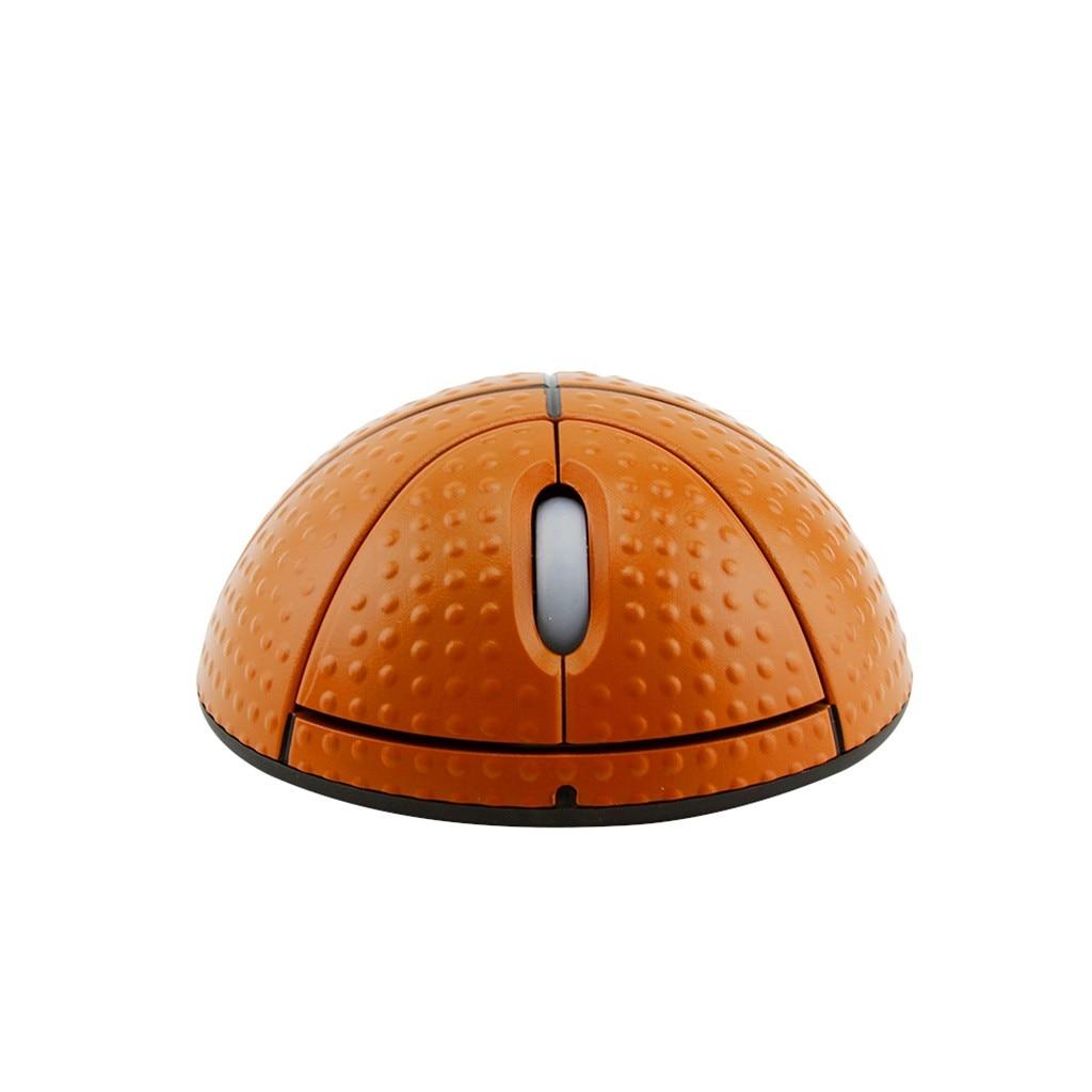 VOBERRY trend 2,4G фотоэлектрическая креативная Беспроводная баскетбольная мышь эргономичная 3D оптическая Спортивная мышь в форме баскетбола для ноутбука-0