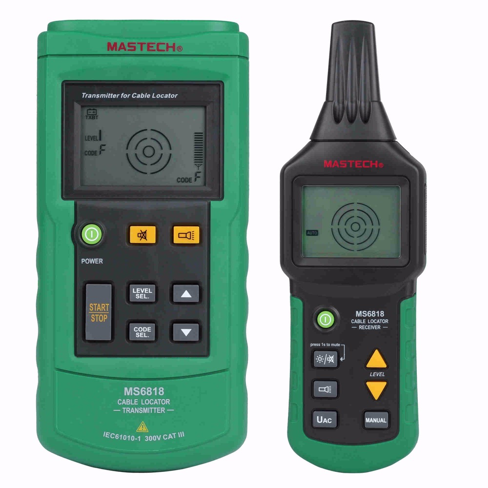 Mastech MS6818 Portable Instruments Professional Cable Locator Wire Tracker Pipelines Detector Tester AC DC Voltage 12-400V цена