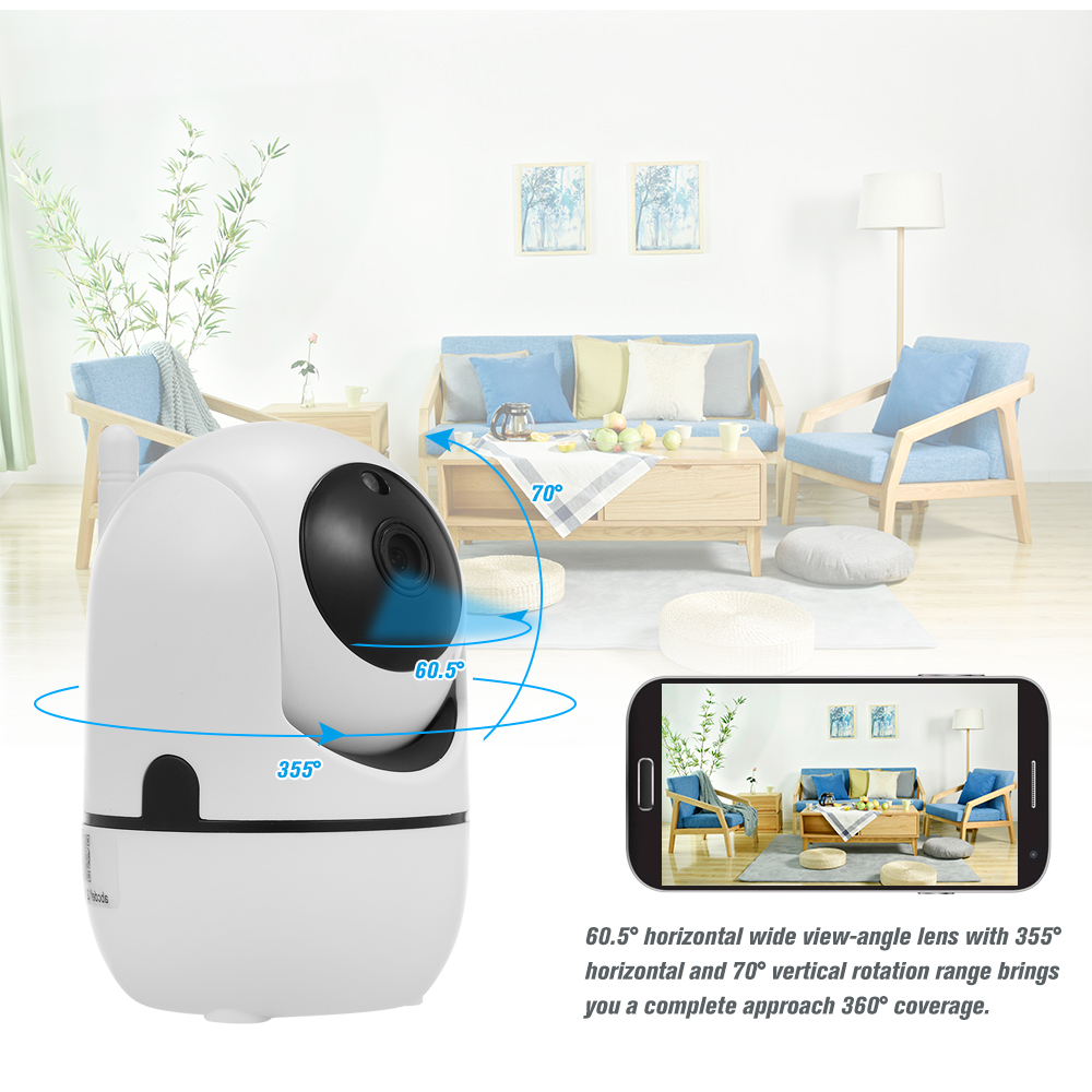 Image 3 - 1080P HD WiFi Camera Wireless IP Camera Baby Monitor with Motion Detection Tracking Voice Alarm 2 way Audio Night Vision-in Baby Monitors from Security & Protection