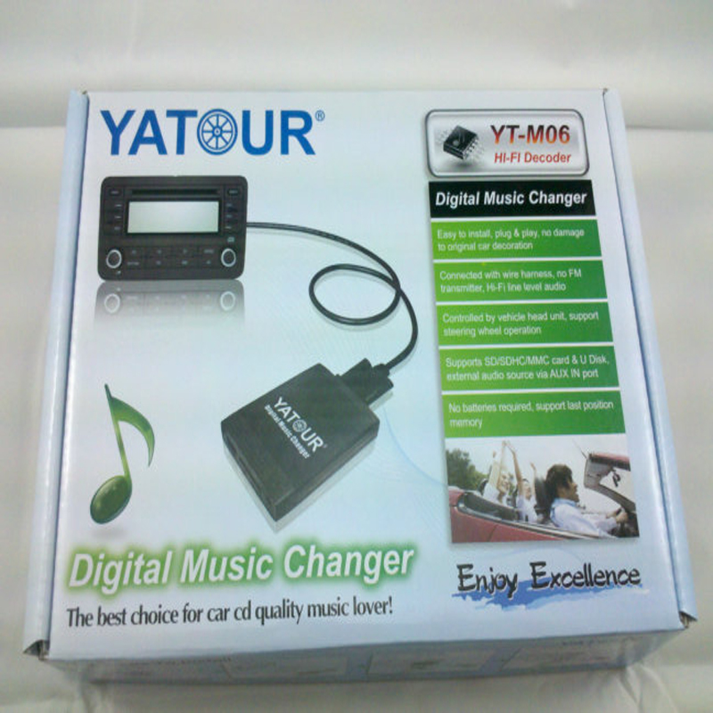 Yatour TOY1+YT TYBY USB CD Changer Digital music interface adapter ...