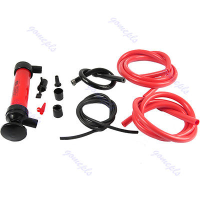 Car Tire Water Oil Fuel Change Transfer Gas Liquid Pipe Siphon Tool Air Pump Kit