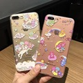 2017 new Cute Cartoon Litte Twin Stars My Melody clear Soft tpu Silicone phone case cover for apple iPhone 6 6S 7 plus