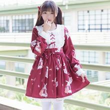 Лолита кружева dress 2017 новый японский женский одежда мори девушки симпатичные лолита ретро инструмент кролик мягкой сестра dress wj627