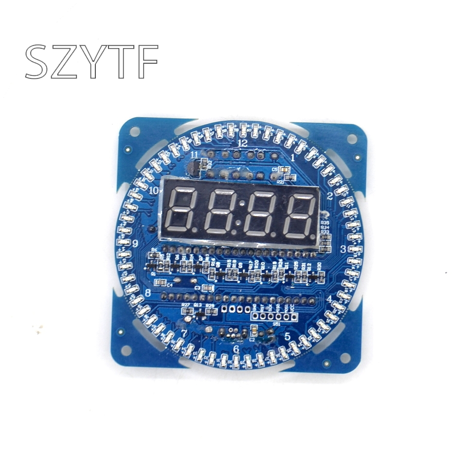 circuit diy parts ds1302 watch 18b20 - LED electronic bell DIY kit parts DS1302 clock 18b20 temperature display