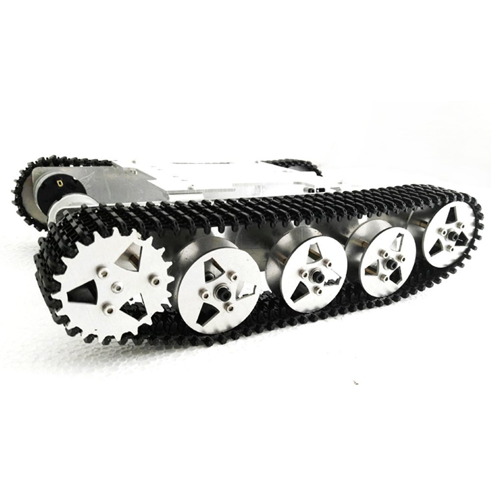 Rot5 WIFI RC Tank Mount Track Suspension System Aluminum Alloy Chassis Shock Absorption RC Track Chassis 2 DC Motors professional 7005 aluminum alloy tube clap long track ice blade 64hrc high quality dislocation skate shoes knife 1 1mm frame