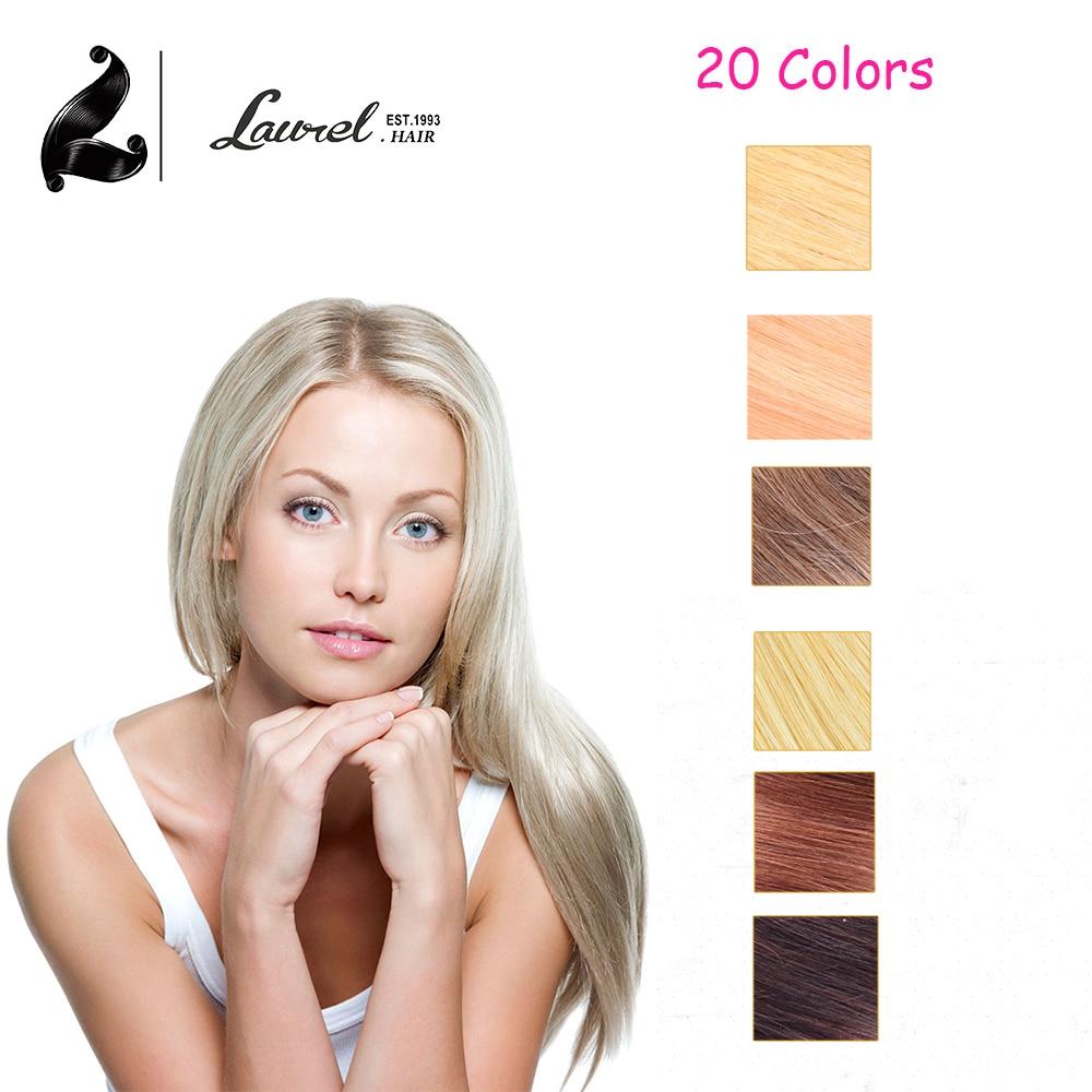 10 Color Clip In Human font b Hair b font Extensions 7Pieces Per Set Human font