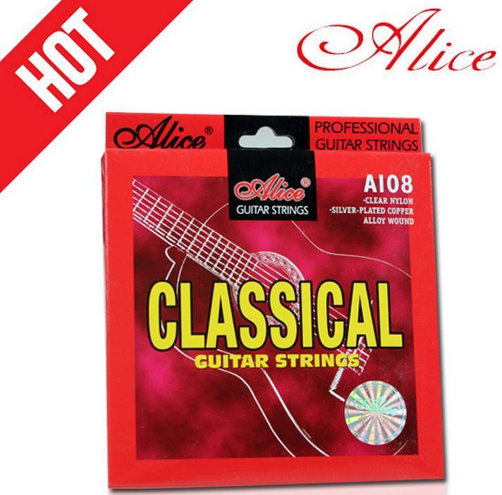 Cobre Chapada En Plata de Nylon cuerdas de guitarra Clásica partes de guitarra A