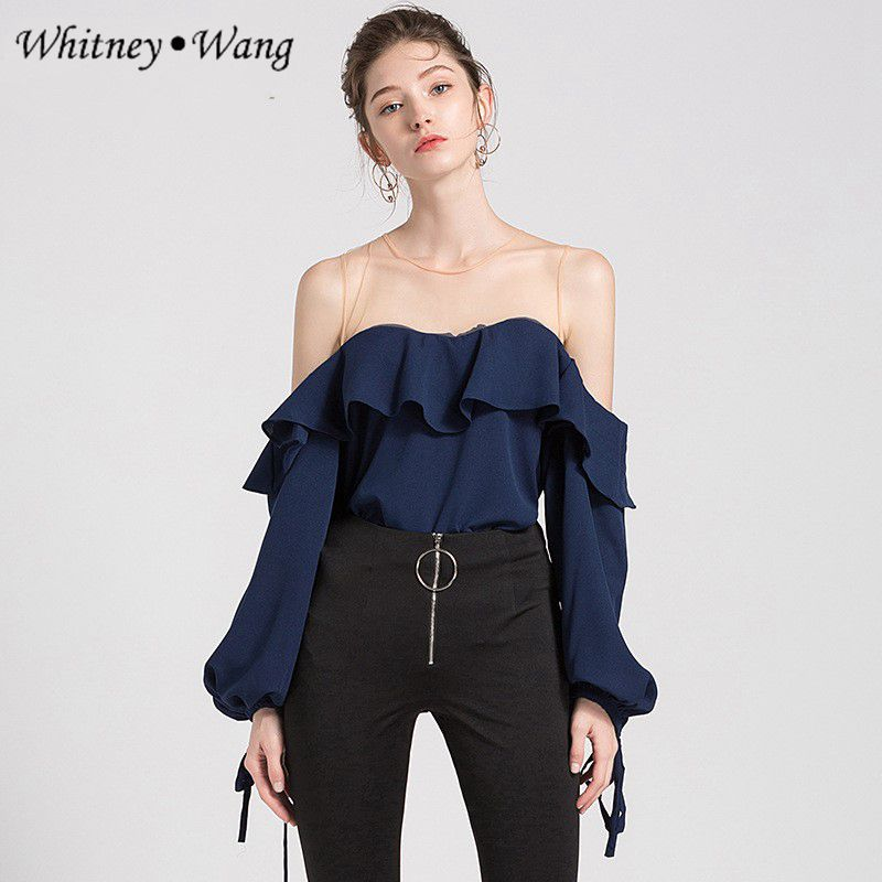 9ab2588fc80 WHITNEY-WANG-2018-moda-de-verano-elegante-Sexy-ver-a-trav-s-de-malla- Patchwork-del.jpg