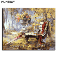 PAINTBOY DIY Framed Pictures Painting By Numbers Landscape DIY Digital Canvas Oil Painting Home Decoration GX7816
