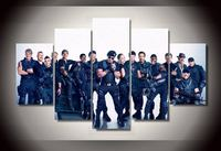 Modern Art Abstract Original Art Indoor Decor The Expendables Movie Print Canvas In 5 Pieces