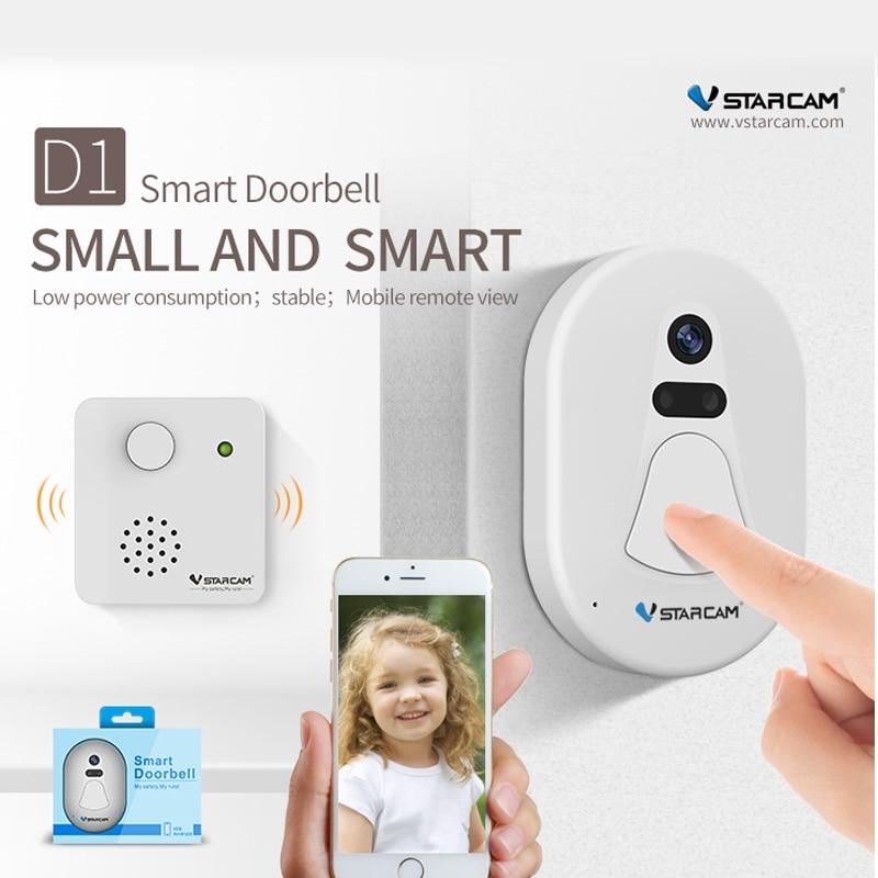 цена Vstarcam D1 wifi doorbell camera wireless wifi Free Cloud Storage night vision video intercom