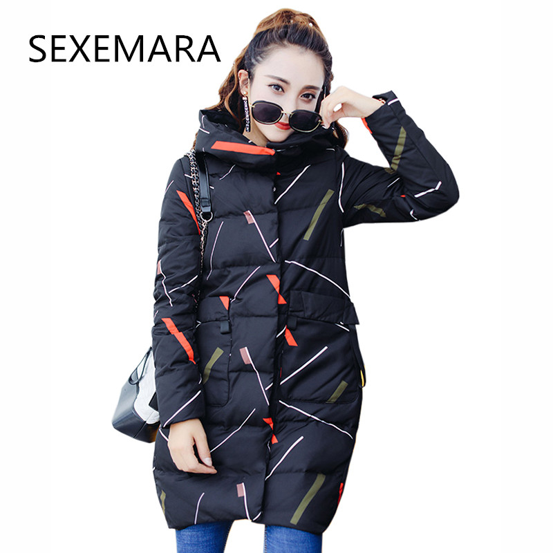 Women's winter Cotton jacket 2017New fashion hooded Overcoat Long section high quality thick outerwear warm parka Female coat370 2016 new high quality brand men winter cotton down jacket coat parka clothing men and women hooded warm outerwear overcoat