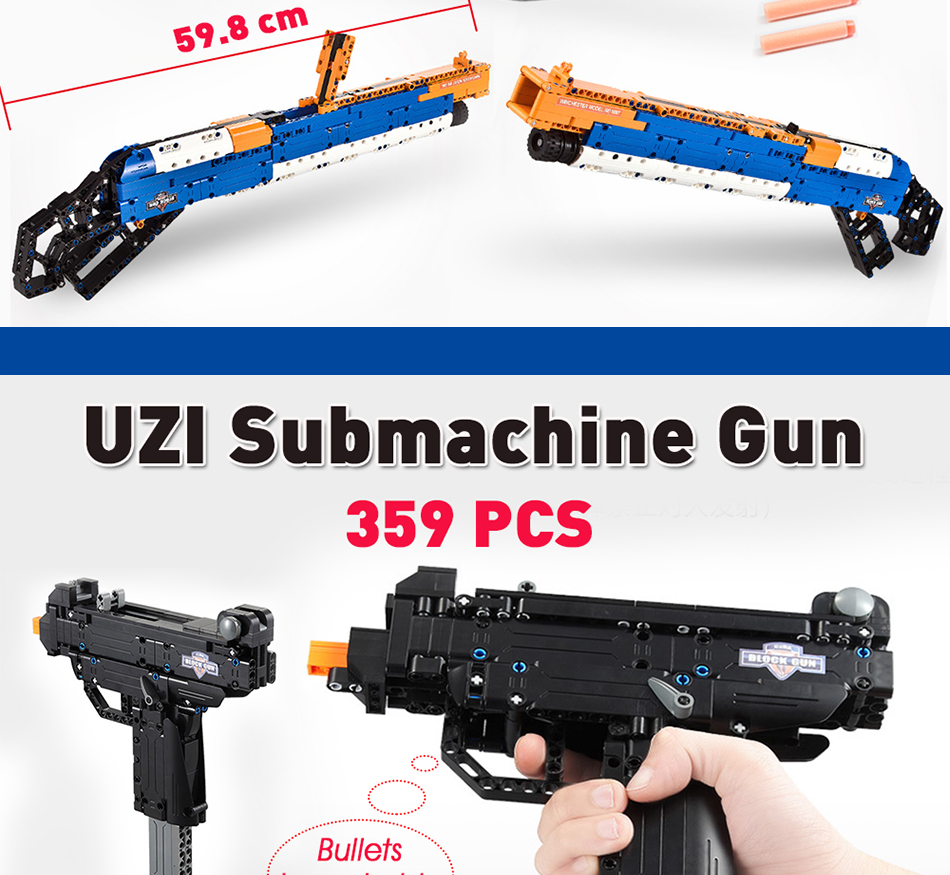 cada building blocks technic gun toy models & building toy gun model 98k bricks educational toys for children ww2 toys for kids 12