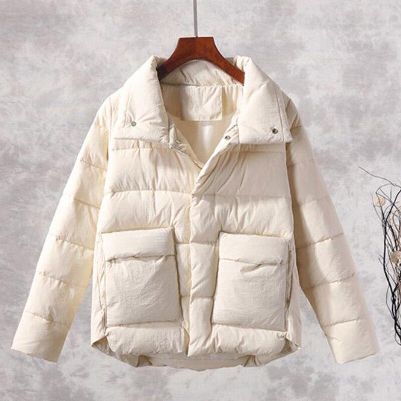 2019 Nieuwe Mode Parka Vrouwen Jas Vintage Korte Herfst Winter Jacket Vrouwen Kleding Vrouwelijke Parka Winterjas LP440-in Parka's van Dames Kleding op  Groep 1
