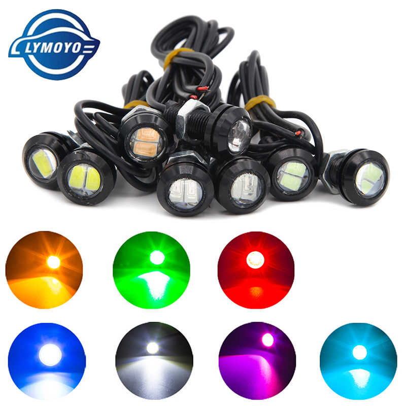 1piece/lot auto drl 18MM Eagle Eye Light Car Auto LED DRL Light 5630 2SMD 12V 2W Fog Tail Lamp Waterproof Reverse Lamp colorful