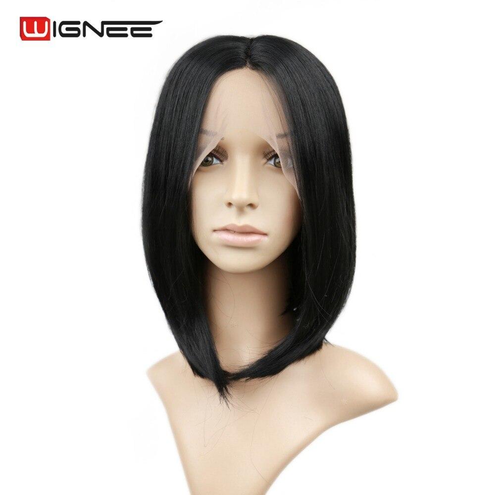 Wignee Σύντομη Bob Lace Περούκες Συνθετικές - Συνθετικά μαλλιά - Φωτογραφία 3