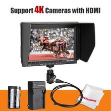 FW 74K 7 Inch HD IPS 1280x800 Field LCD DSLR Camera Car Monitor pc HDMI Battery