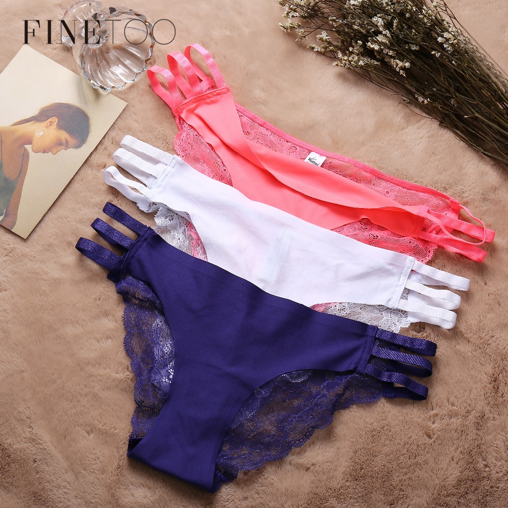 Seamless   Panty   3Pcs/lot Lace Briefs For Women Hollow Out Lace   Panties   Female Underwear Fashion 5 Colors   Panty   Set Soft Lingerie