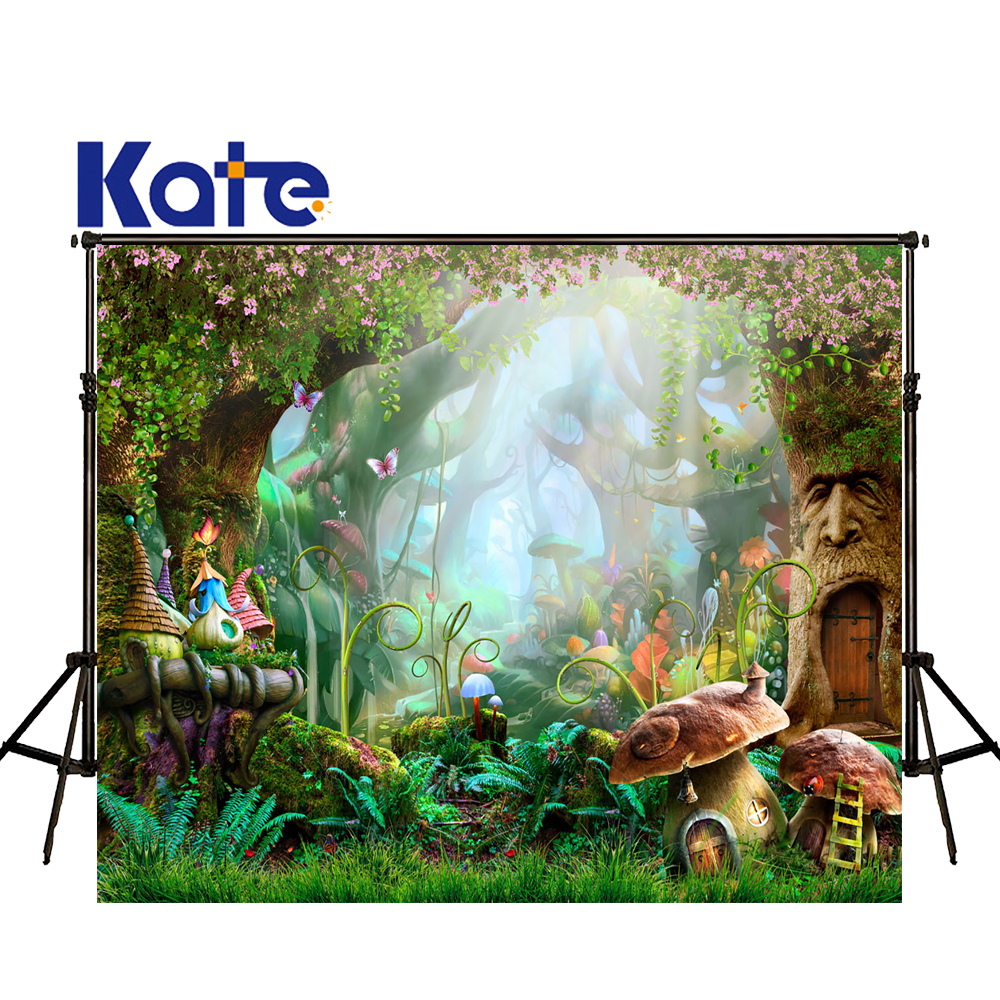 KATE Children Photo Backdrop Fairy Tale Forest Background Mushrooms Photography Backdrops Newborn Photography US Delivery велосипед stels navigator 800 2015