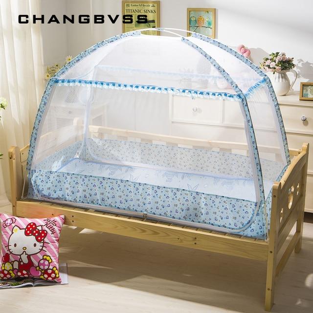Door Type Zipper Outdoor Kids Camping Tent Baby Bed Mosquito Net Infant Crib Cradle Netting Portable Fold Fine Mesh Bed Canopy