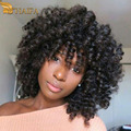 Перуанский девы волос afro kinky вьющиеся волосы 100 процентов Человеческих волос соткет Перуанский спираль curl хорошее качество tissage