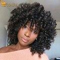 Cabelo virgem peruano afro kinky curly cabelo tece Peruano onda espiral extensões de Cabelo Humano de 100 por cento de boa qualidade tissage