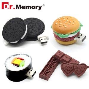 Прикольные USB флеш-накопители, 16 ГБ шоколадное печенье, милый Pendrive 64 ГБ 8 ГБ карта памяти, флеш-накопитель 32 Гб I флеш-диск 4 ГБ устройство для х...