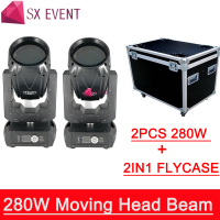 With 2IN1 Flightcase wedding Dj stage club lighting 10R New 280w super beam sharpy moving head light
