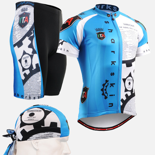 3ca00a5a6 2016 cycling sets iam New blue short sleeve Pro Cycling Jerseys Set  Polyester spandex mens clothing Quality Bicycle Clothes. Price: