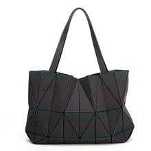 New Luminous baobao Women Bags Geometric Luxury Brand Ladies Shoulder Bags Diamond Lattice Bao bao Handbag sac femme