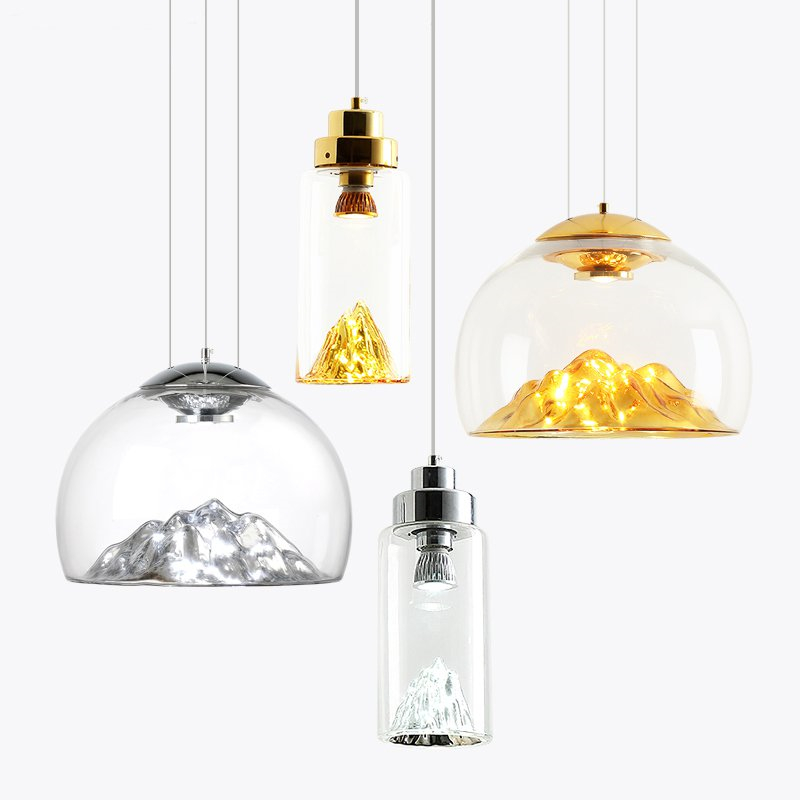 Modern Simple Gold Mountain Pendant Lights Nordic Glass Design Hanglamp Bar Living Room Restaurant Dining Room Lights LuminaireModern Simple Gold Mountain Pendant Lights Nordic Glass Design Hanglamp Bar Living Room Restaurant Dining Room Lights Luminaire