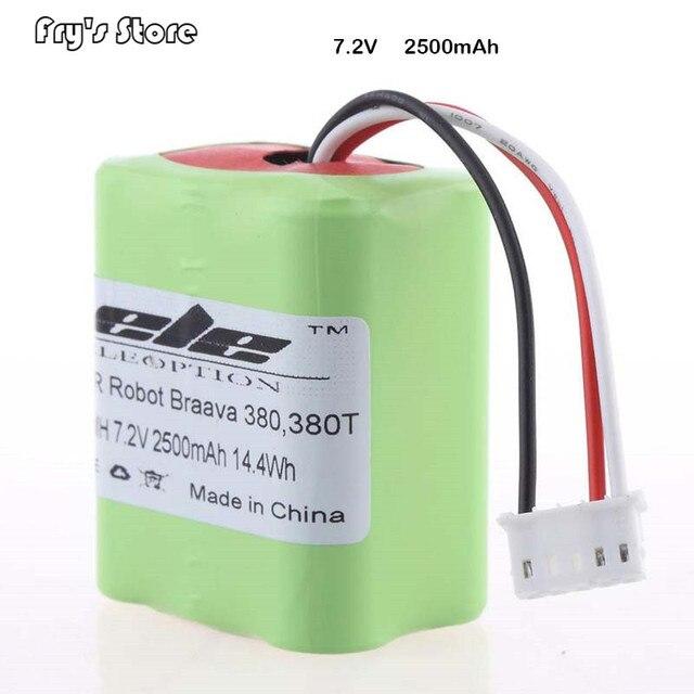 Eleoption batterie de remplacement pour aspirateur 7.2V, 2500mAh de haute qualité pour IRobot Roomba Braava 380 et 380T, nouveau