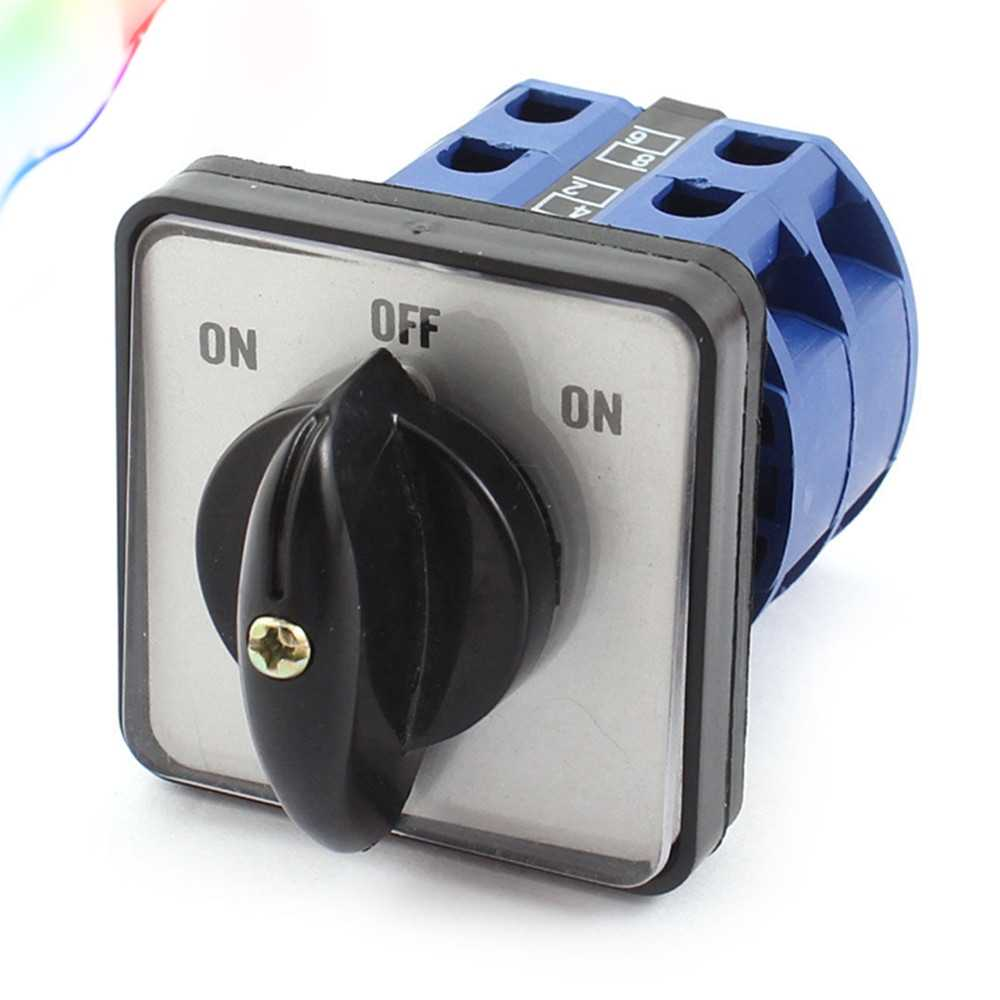 AC 660V 25A 2 Poles ON-OFF-ON Momentary Control Rotary Cam Changeover Switch