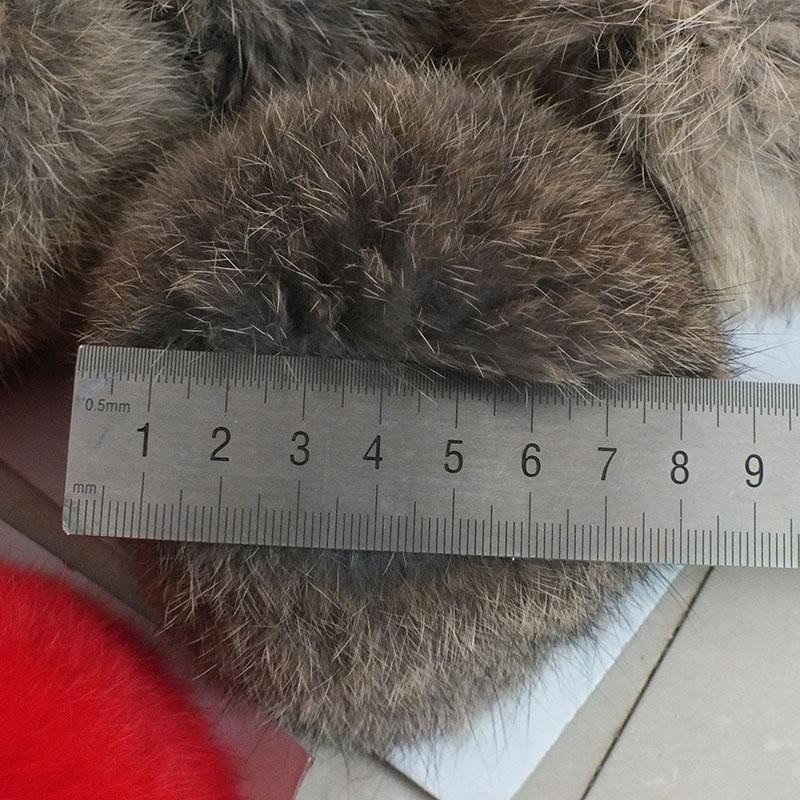 DIY Craft Supplies / Real Rabbit fur ball diameter 8cm / hand diy cell phone bag car keys Hair Accessories Many Uses / Wholesale