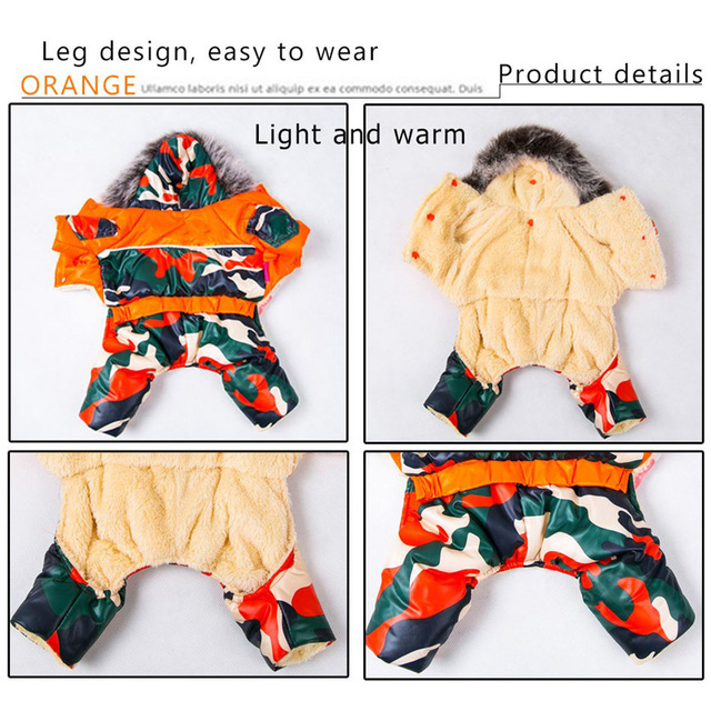 Dog Clothes for Small Dogs Waterproof Cotton Jacket Patten Warm Winter Coat Pet Clothing XS-XXL Dress Warm Coat Puppy Chihuahua