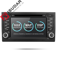 Isudar 2 Din Car Multimedia Player GPS Android 9 DVD Automotivo For Audi/A4/S4 2002 2008 Radio Quad Cores RAM 2GB ROM 16GB DSP