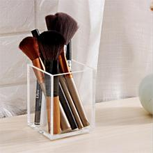 New Acrylic MakeUp Storage 1 Slots Brushes Eyebrow Pencil Liner Organizer Lipstick Stand Case Cosmetic Holder Storage Box