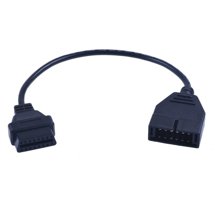 Hot Selling Car Tester Cable Adapter For GM 12 Pin OBD1 To 16 Pin OBD2 Convertor Adapter Cable For Diagnostic Scanner Oct25 джемпер brave soul brave soul br019ewulg88