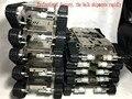 Pista de acero inoxidable rc tank car chassis crawler tractor de orugas vehículo con dos escobillas de carbón del motor diy toy evitando obstáculos