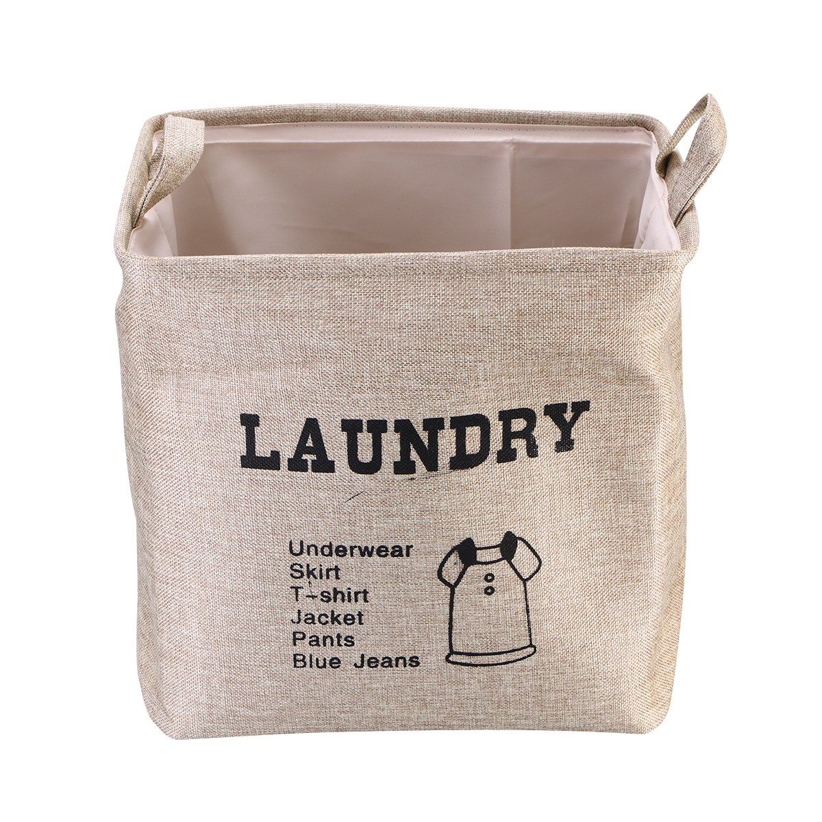 Square Collapsible Canvas Storage Box Foldable Kids Toys: Square Linen Toy Storage Bins Basket With Handle