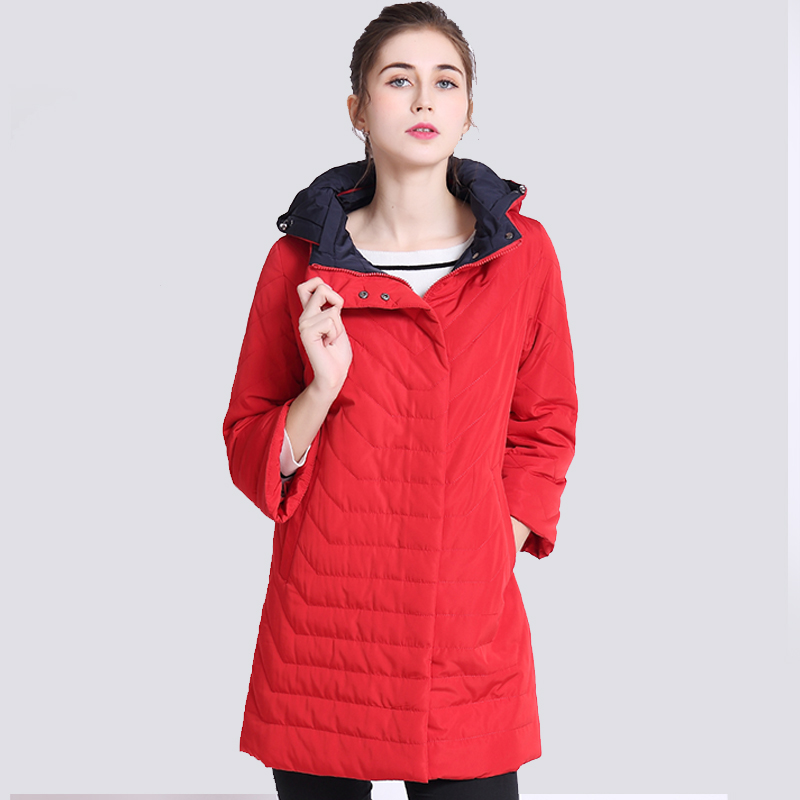 2019 Thin Women's Coat Spring Autumn Women's Fashion Windproof   Parkas   Female Hood Jacket New Large size Outwear Hot Sale