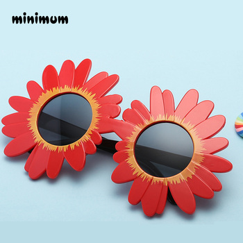 MINIMUM 2018 fashion Sun Flower Round Cute kids sunglasses UV400 girl Lovely baby glasses Children Safe and Comfortable Eyewear