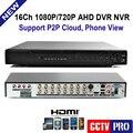 1080 P AHD-H Гибридный 16 Канала CCTV DVR Рекордер 3 В 1 Hybrid DVR 16-канальный AHD DVR 1080 P/720 P Поддержка 2-МЕГАПИКСЕЛЬНАЯ/1MP AHD Камеры, CVBS