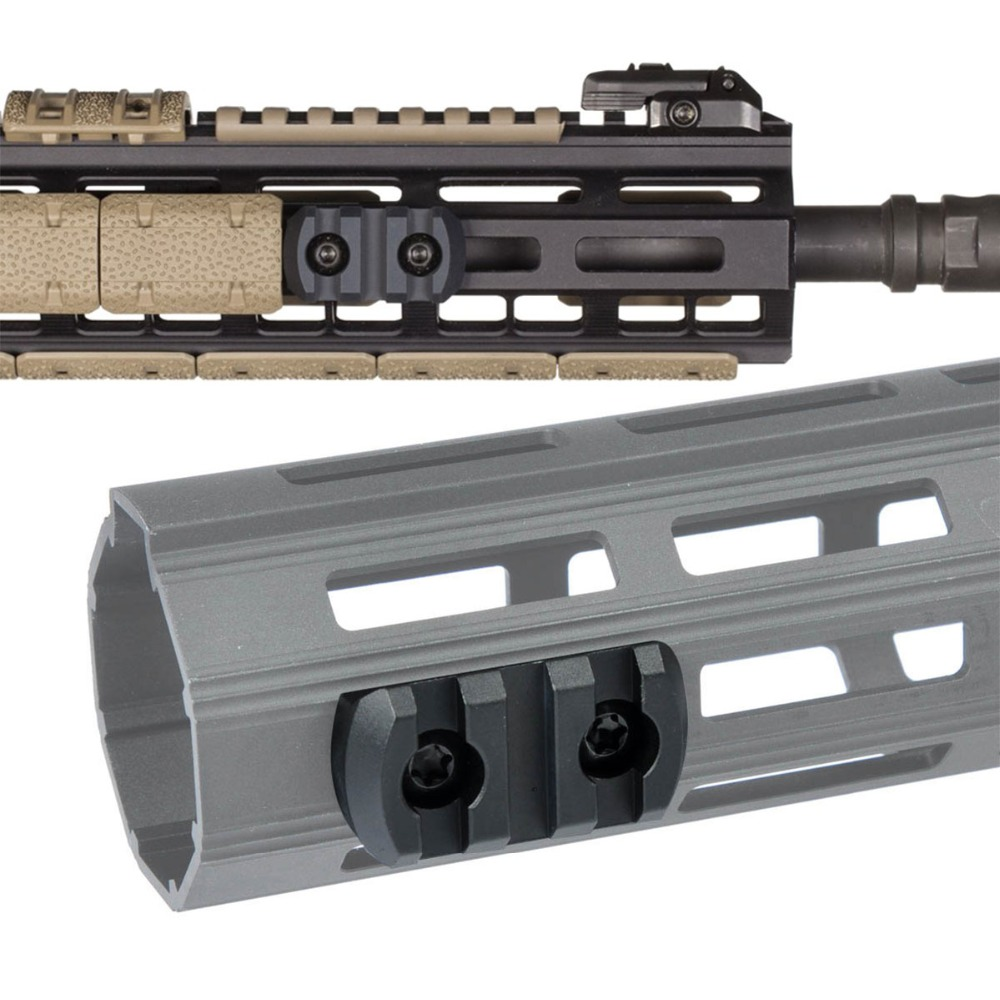 LAMBUL 3 5 9 Slots AR15 M4 M16 M-LOK Rail Section Fits <font><b>AR</b></font>-<font><b>15</b></font> MLOK <font><b>Handguard</b></font> to Mounted a Waepon Light or a Red Green Laser image