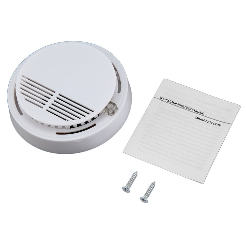 Fire Smoke Sensor Detector Alarm Tester Home Security System Wireless Cordless Family Guard Home Independent Alarm 8pcs wholesale wireless sensitive photoelectric smoke detector fire sensor cordless for wireless security home alarm system